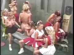 Cheerleader lesbian orgy in locker room tubes