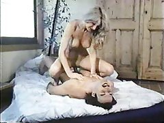 Blonde fucked by man with mustache tubes