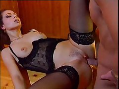 Sexy girl in black lingerie doing cheat hardcore tubes
