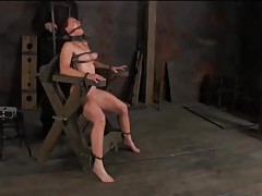 Bondage devices keep this girl restrained tubes