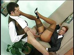 He gives corporate milf fuck in the ass tubes