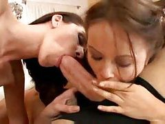 Mom and daughter share his throbbing meat tube