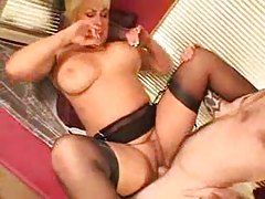 Sweet mature with blonde hair loves cock tube