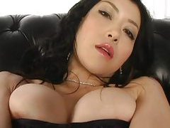 Let the Asian model her flawless body tubes