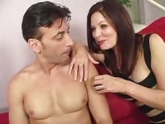 Mom in tight dress seduces him tubes