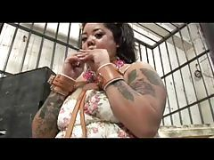 Fat slut is caged like a gerbil tubes