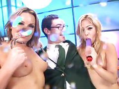 All the girls are squirting lots in scene tubes