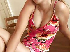 horny girl masturabation on the table tubes