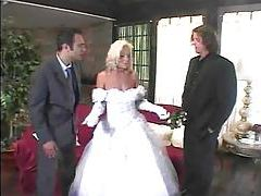 Babe in wedding dressed stripped and double fucked tubes