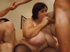 Mature women do an orgy with young guys tubes