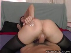 Gal blows a big cock and gets screwed by it tubes