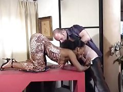 Black chick taking his white dick for her delight tubes