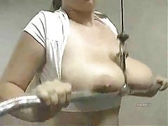 Chubby big tits girl bouncing her boobs tubes