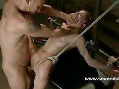 Redhead babe fucked in the mouth then abused in bondage sex over and over and over again tubes
