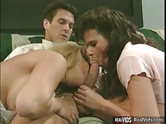 Two lovely girls nailed by strong guys tubes