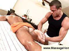 John Marcus gets a massage tubes