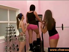 cfnm in the gym with three girls tubes