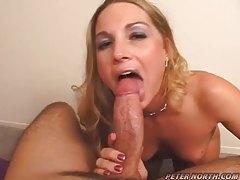 Cum sprays all over her naughty face tubes