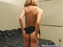 Cute blonde makes big cock jizz hard tubes