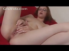 Nerd in glasses fingers her cunt tubes
