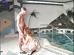 Big tits girl fucked poolside tubes