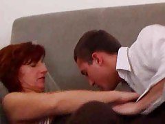 Balls against her milf pussy during anal sex tubes