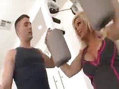 Diamond Foxxx fucked in the gym by trainer tubes