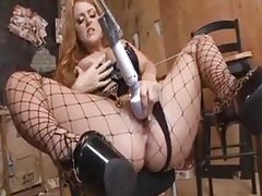 Nice big cock fucking a hot redhead in ass tubes
