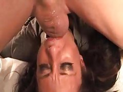 Face fucking this girl gets messy tubes