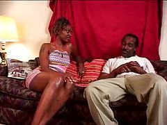Black girl slowly rides his big black cock tubes