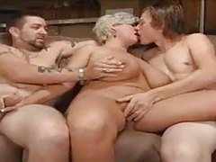 Chubby mature makes a hardcore threesome happen tubes