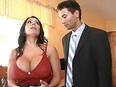 Hubby watches his hot wife go black tubes