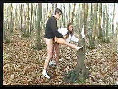 Fucking a redhead in the woods tubes
