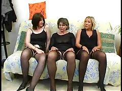 Three horny ladies join an orgy tubes