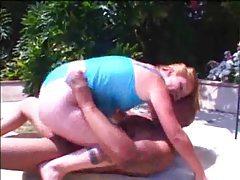 Big cock fucks a chubby girl on the lawn tubes