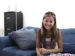 Slim and cute Asian sucks him and lets him fuck her tubes