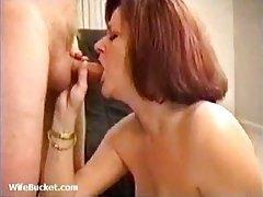 Smoking chick gives head and tit fucks tubes