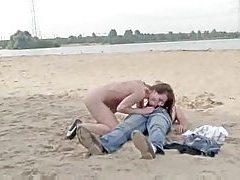 Naked girl sucks him and rides him at beach tubes