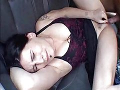 Dark-haired and delicoius girl fucked in the car tubes