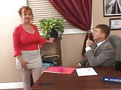 Chubby milf redhead secretary fucked in office tubes