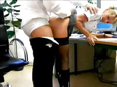 Slutty secretary boned by the boss tube