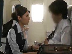 Japanese stewardess giving a handjob tubes