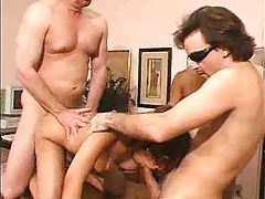 Girl gives it up to three horny men tubes