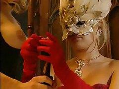 Crazy hot lesbians in lingerie using toys tubes