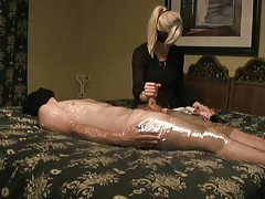 Bored wife gives her man a handjob tubes
