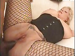 BBW babe in corset fucked in her ass tubes