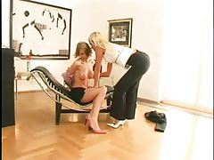 Amazing lesbian sex in the office tubes