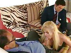 Elegant stockings blonde and big dicks tubes