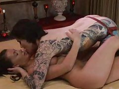 Lesbian seductress has tons of tattoos tubes