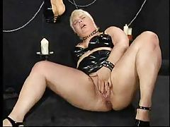 Hard dildo ramming and fisting with fatty tubes